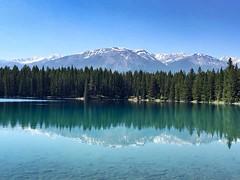 The Rockies (noshin.karim) Tags: blue trees mountain lake canada rockies jasper alberta rockymountains