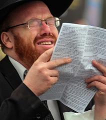 A Scream (ybiberman) Tags: portrait man israel candid jerusalem praying streetphotography demonstration jewish screaming ultraorthodoxjew