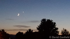 July 18, 2015 - A crescent moon and Venus in the sky.  (David Canfield)