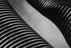 fluidity (Jack Landau) Tags: world toronto abstract building texture geometric monochrome field lines marilyn architecture skyscraper buildings ma design pattern background diagonal monroe mad minimalism curve mississauga depth absolute yangsong