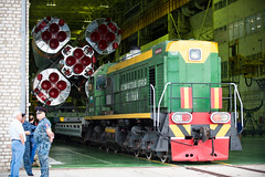 Expedition 44 Rollout (201507200001HQ) (NASA HQ PHOTO) Tags: train nasa kazakhstan soyuz rollout baikonurcosmodrome roscosmos soyuzrocket russianfederalspaceagencyroscosmos aubreygemignani expedition44 expedition44preflight soyuztma17m