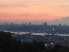 Vue d'Istanbul à partir du côté asiatique