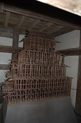 Wooden structure Himeji castle