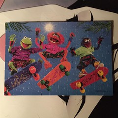 "This skateboarding Muppets puzzle is one of the coolest finds that my buddy Wylie has given me. Thanks pal! • <a style=""font-size:0.8em;"" href=""http://www.flickr.com/photos/99295536@N00/20102865666/"" target=""_blank"">View on Flickr</a>"