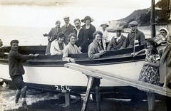 STREET PHOTOGRAPHER 254 .         VENTNOR . BOAT TOUR 1-6d (JOHN MORGAN .) Tags: street uk bw white black water vintage walking found photo seaside interesting different photographer photos ventnor unknown and british unusual spencers isle wight iow 254 of