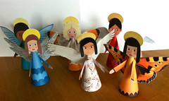 Christmas - 6 Simple Angels Free Papercrafts Download (PapercraftSquare) Tags: angel christmas kid