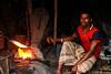 Blacksmith (কামার) (Galib Emon) Tags: blacksmith কামার man people portrait fire workingonmetal red darkbackground streetphotography localstall ruralarea hardwork canon eos 7d efs18135mm f3556 is chittagong bangladesh flickr copyright galib emon worker