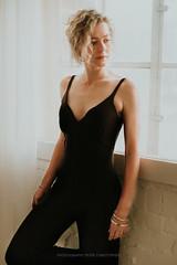 Hanna- Theresa (peter christopher photography) Tags: girl woman femme portrait portraiture blond blondine blonde porträt jumpsuit windowlight availablelight