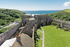 Manorbier Castle overview (Keith in Exeter) Tags: castle manorbier vista landscape fort pembrokeshire coast nationalpark wales sea beach outdoor roof battlements ruins