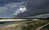 Estuaire de l'Horn . (Herbé) Tags: bretagne brittany cloud horn rivière river nuage dune graminées estuaire plougoulm santec seaside