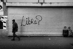 (archmnd) Tags: art tones streetart streetphotography graffiti piéton strideby parisian liberté free freedom libre blackandwhite noiretblanc paris