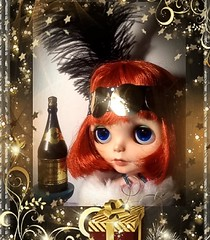 Flickr Advent Group & December Blythe-a-Day#9#: Cutting: Clara Bow Cuts Up
