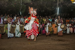 To be God and Step Up Larger than Life - Theyyam at Kannur (Anoop Negi) Tags: kerala theyyam india kannur devam god dance night event performnace hindu hindusim epic depiction folk religion art exhibtion photo photography anoop negi ezee123 body paint painting bodypainting bali baali vellatam