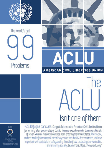 The world's got #99problems. The ACLU is by Former UN Special Rapporteur on assembly & associa, on Flickr