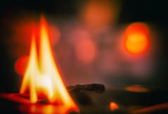 Firestarter / Prodigy (Inspired by a Song) (Maria Eklind) Tags: red light dof bokeh match tändsticka macromondays closeup eld prodigy fire inspiredbyasong depthoffield