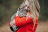 pet (vujade762) Tags: red cat blonde girl bokeh canon nashville