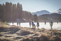 Heidsee gefroren (nicopeter) Tags: canoneos80d nicopeter niceweather winter zeiss zeissplanart1450ze planar 50mm see lake ice gefroren vintage sun sunnyday mountains berge schweiz