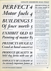 Ludlow Garamond type specimen (Dunwich Type) Tags: typespecimen font graphicdesign vintage historical