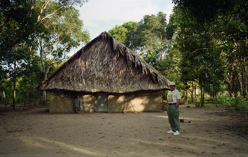 Willie at a Indigenous Indian village