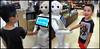 Hal meeting his first Robot (no(w]here) Tags: hal japan robot ai handshake animatronic happy sad
