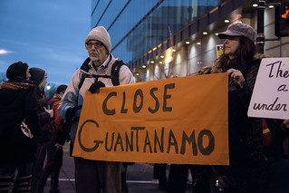 Close Guantánamo - Witness Against Torture Holds a Protest Outside the Presidential Inauguration of Donald Trump