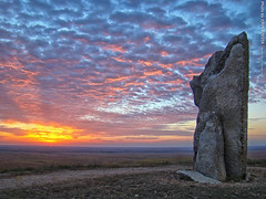 Sunrise at Teter Rock, 21 Oct 2015 (photography.by.ROEVER) Tags: sunrise morning color colors colour colours clouds flinthills teterrock kansas greenwoodcounty october 2015 october2015 roadtrip usa