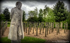 Shot at Dawn (AreKev) Tags: shotatdawn britisharmy commonwealth worldwari andydecomyn nationalmemorialarboretum national memorial arboretum remembrance alrewas lichfield staffordshire england uk colours hdr photomatixpro nikond7100 nikon d7100 sigma 1750mmf28exdcoshsm tonemapped