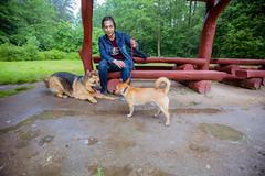 Spacer z psem na orientacje