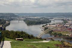 The Ohio River and Brunot Island (Canadian Pacific) Tags: city bridge ohio urban usa america river island us washington pittsburgh mt unitedstates pennsylvania bridges lookout mount american brunot ofamerica aimg0194