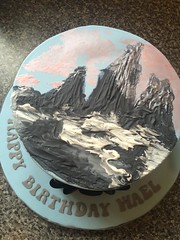 Painted Mountain Birthday Cake
