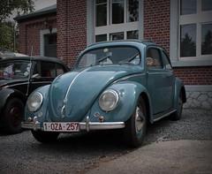Volkswagen split windows (Pierre Monneret) Tags: old blue car vw bug volkswagen belgium belgique beetle voiture cox split ragtop coccinelle kever fusca aircooled kdf kafer dorigine 19381953 blehen
