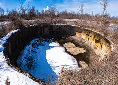 TNT Area Igloo's (reflectioninapool) Tags: door old light color abandoned broken horizontal architecture dark concrete outdoors us unitedstates hole ruin nobody structure westvirginia dome unfinished northamerica inside walls damaged derelict appalachia collapsed pointpleasant mcclintock igloos tntarea