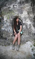 Emily in the Rock (karla.mellett) Tags: lighting portrait mountain color girl beautiful rock
