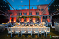 Wedding at Villa Nozzole (GBAudio Service) Tags: wedding dinner spot villa cena matrimonio illuminazione facciata nozzole gbaudio