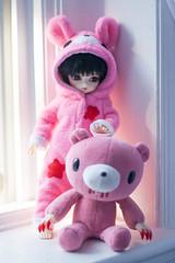 Reina - Gloomy Kigurumi! (Miss Alli M.) Tags: kawaii morichack gloomybear bjd cori yosd tinybjd infinitidoll customcritterdesigns