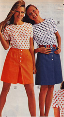 Sears 72 sale orange blue (jsbuttons) Tags: clothing buttons sears womens 70s catalog 1972 vintagefashion
