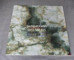 Gạch vi tinh xanh lục bảo (80x80)