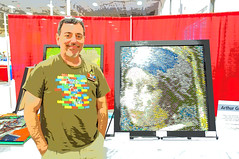 "VA BrickFair 2015 Mosaic ""Arthur Gugick"" (EDWW day_dae (esteemedhelga)) Tags: lego mosaic bricks minifigs minifigures gugick edww daydae esteemedhelga vabrickfair2015 mocafolarthur"