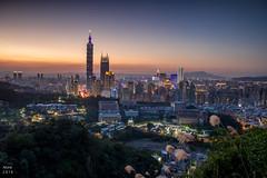 冬日 夕陽 (啊痛) Tags: taiwan 600d 台灣 canon coluds sky landscape landscapes 虎山 虎山峰 台北101 taipei taipei101