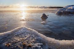 Sunrise in Kallahti (g u i l l a u m e) Tags: kallahti kallahdenniemi helsinki finland suomi helsingfors ice sunrise winter baltic