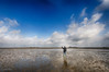 Selfie on the Ocean's Floor (Collin Key) Tags: norddeutschland flat wetland landscape refugee northsea warft hallighouse nordsee clouds ocean wattenmeer tidelands sky tidalflats 5ort nationalpark texture schleswigholsteinwaddensea hooge schleswigholstein deutschland de