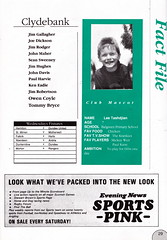 Hibernian vs Clydebank - 1989 - Page 29 (The Sky Strikers) Tags: hibernian hibs clydebank skol cup road to hampden easter matchday magazine one pound