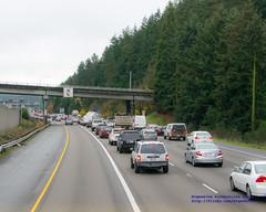 Looking Down at Congestion on I-5 29-11-2016 (AvgeekJoe) Tags: d5300 dslr i5 interstate5 nikon nikond5300 usa washington washingtonstate cars highway traffic trucks