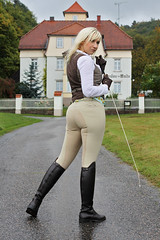 Her sexy jodhpurs apologise that