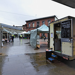 Another dreary day (JEFF CARR IMAGES) Tags: northwestengland stockport markets rain reflections greyday