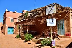 Cafe and resto around Kasbah (T Ξ Ξ J Ξ) Tags: morocco aitbenhaddou d750 nikkor teeje nikon2470mmf28 mud brick