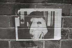 Joseph Merrick Street Art (goodfella2459) Tags: nikon f4 af nikkor 50mm f14d lens kodak tmax 100 35mm black white film analog joseph merrick elephant man street art whitechapel east end london bwfp milf