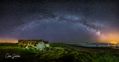Holy Island Upturned Boats (Calum Gladstone) Tags: northumberland holy island milkyway way stars panoramic samyang canon6d