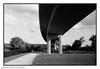 Lines (Spotmatix) Tags: brussels streetphotography vignette architecture bridge effects film germany landscape monochrome places polypanf recent river water