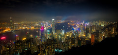Hong Kong from Victoria Peak (sbmeaper1) Tags: hdr hong kong victoria peak night sony a7r2